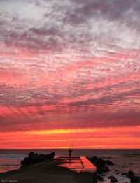 R 2017年9月1日の日本海と夕焼け