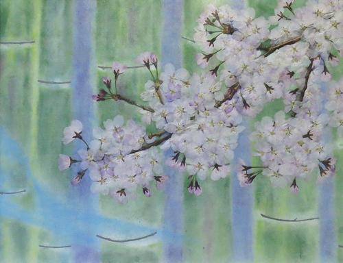 R さくらさくら♪&押し花で描く『巻紙コラボ×世界遺産』展