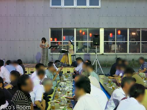 R 酒田電気工事協同組合青年部主催『ビアパーティー2014』にYOSHIKO&RICO出演しました♪