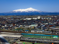 R 本日快晴なり〜♪酒田駅前『ル・ポットフー』日新開発ビルより鳥海山&月山を望むの巻