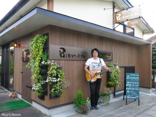 R 酒田市『mamma cafe Bremen』にて、地下鉄のギタリスト土門秀明氏と打合せの巻♪