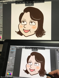 R 似顔絵イラスト制作中!『GOGO YOSHIKO祭り』へ向けて