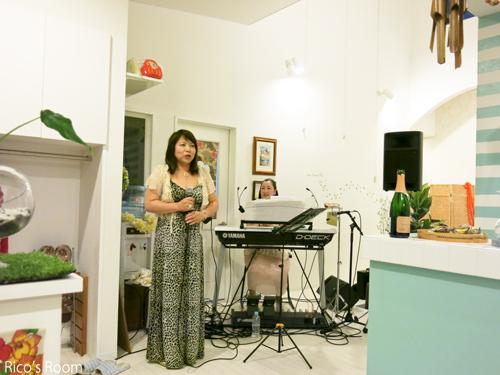 R プライベートパーティーに招かれて、YOSHIKO&RICOライブ♪