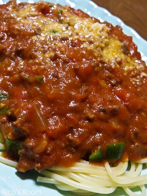 R パスタ用トマトで、自家製ミートソーススパゲッティ♪&グリッサンド奏法やり過ぎましたの巻