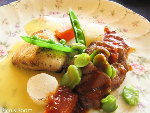 おひなよくばりランチ♪フランス風郷土料理『ル・ポットフー』
