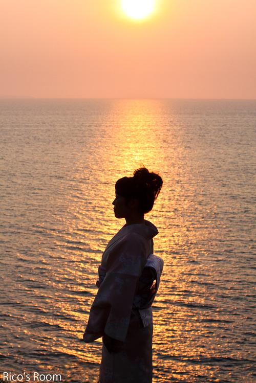 日本海の夕日と『天音里望』プロモーションビデオ撮影終了の巻
