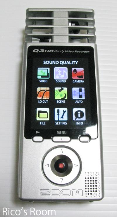 iPodが逝く!ハンディレコーダー『ZOOM/Q3HD』購入