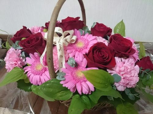 記念日に頂いたお花