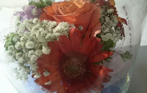 ご両親へプレゼントの花束