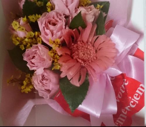 可愛い花束のプレゼント
