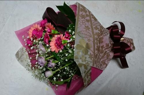 お友達からお花のプレゼント