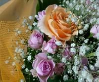 ご両親への花束をフラボ花加工に。