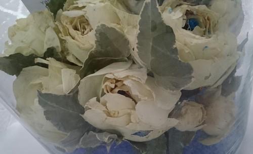 ブーケのお花をフラボ花加工に。