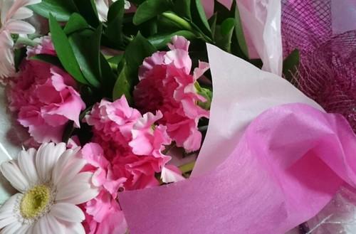 花束も残しました。