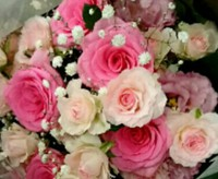 3つの花束からの生花加工