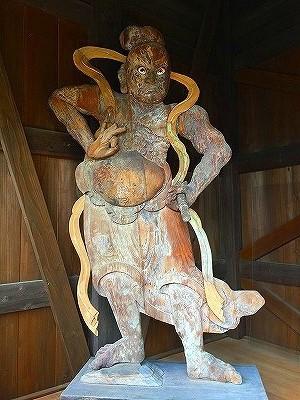 南野駅ハイ 厚さ10cmの板彫仁王像♪♪