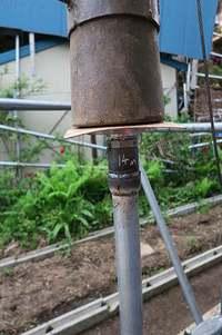井戸掘り始めました 冬に備えて