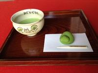 新緑とお抹茶をお楽しみください。