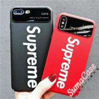 Supreme iPhone9/8/7鏡面 ケース ブランド シュプリーム アイフォンx保護ケース
