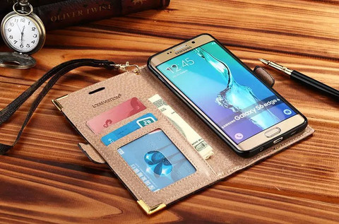 ブランド グッチGalaxy s7/s7 edgeケース 手帳型 カード収納