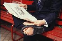 爆笑 珍道具 靴底のない靴