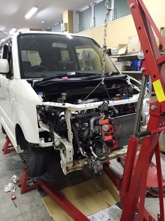 認証整備工場:ARROWS山形:エンジン交換
