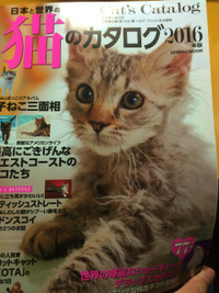 【猫のカタログ2016を購入】毛並みと猫目の資料として