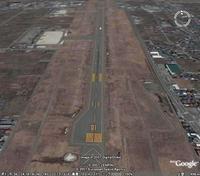 山形空港(パイロット目線)