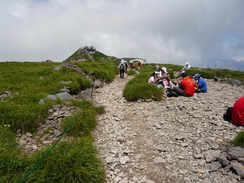 月山登山(姥沢より)