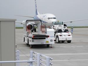 空港は見学者でいっぱい