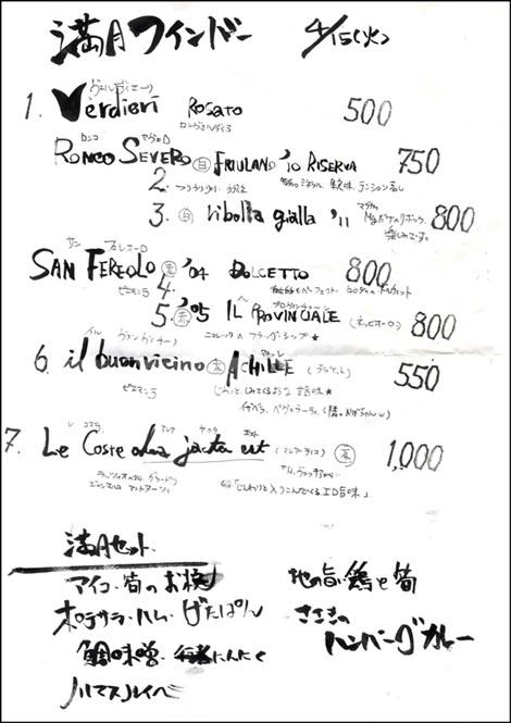 川マスのルイベ・アイコと筍のお椀・行者にんにく・地鶏と筍・満月ワインバー・食道ささき