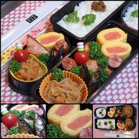 イトヨ佃煮・切干大根煮・明太子たっぷり卵焼き・銀鮭山賊焼・ばんけ味噌・お弁当