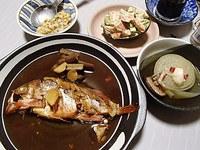 メバル煮付け・アボカド×サーモンのマヨ和え・玉ねぎスープ・塩納豆