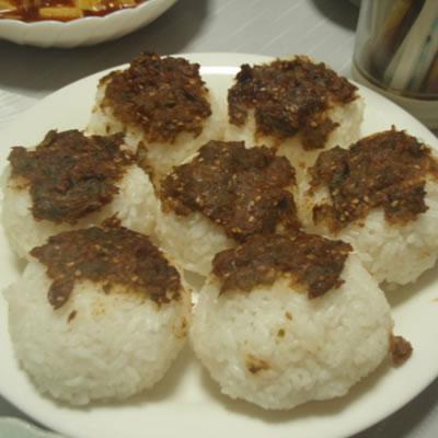 ばんけ味噌おにぎり&ばんけ天ぷら(ふきのとう)