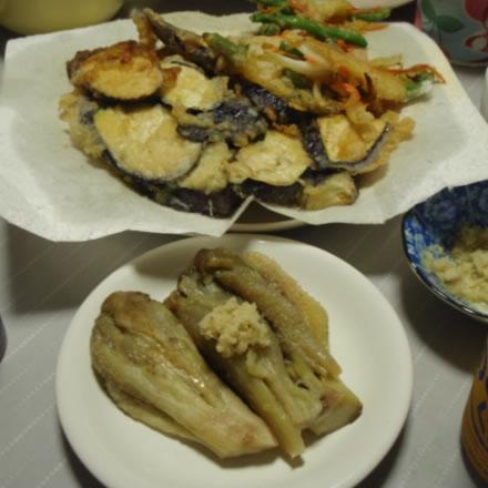 茄子三昧・なすの天ぷら・焼きナス