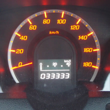 33333キロ・走行距離・誕生日