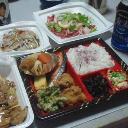 お弁当・天丼・ちらし寿司・焼鳥・ネギチャーシュー・カルパッチョ