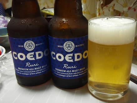 瑠璃(Ruri)・COEDO BREWERY・コエドビール・ししゃも・みず