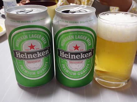 ハイネケン・Heineken・いか一夜干し・野菜炒め・ゴールドキウイ