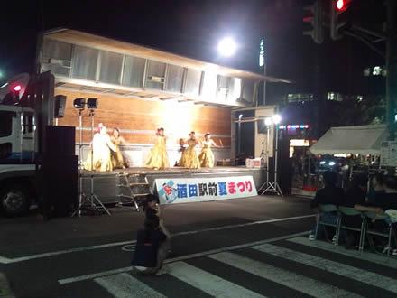 酒田駅前商店街夏祭り・駅前通り封鎖☆