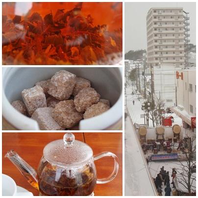 紅茶ポットのある風景・カフェ「シエロ(Cielo)」・マリーン5清水屋4階
