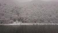 最上川雪景色