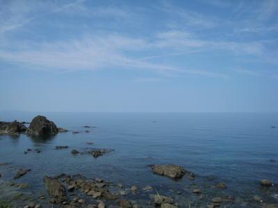 山形県温海地区から見える日本海