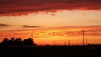 梅雨明け前の夕日